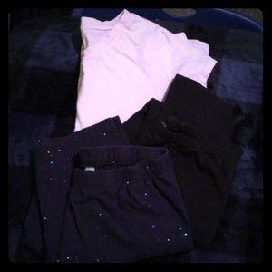 Other - Girls Leggings +T-shirt